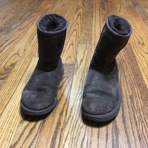 Ugg leather boots size 4